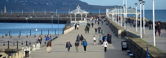 A view of the pier at Dun laoighre harbour.