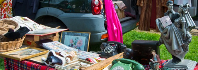 Ascot, England May 5th, 2015, Great Car Boots, Car boot organisers since 1995, specialising in Ascot with antiques and collectables and lots of genuine sellers/buyers from all over the country.