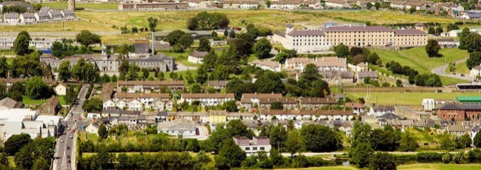 Clonmel town, view from the hill, County Tipperary, Ireland